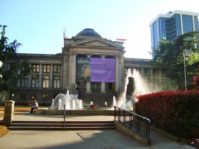 Facade of Vancouver Art Gallery