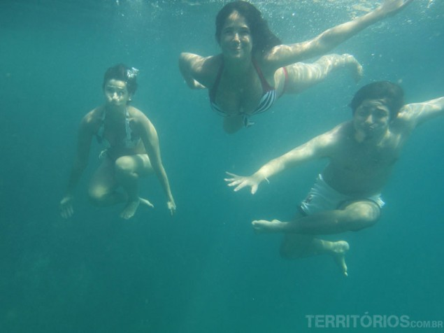 Taking pictures under water was great fun