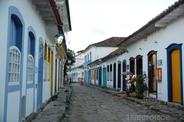 Colorful houses and local shops