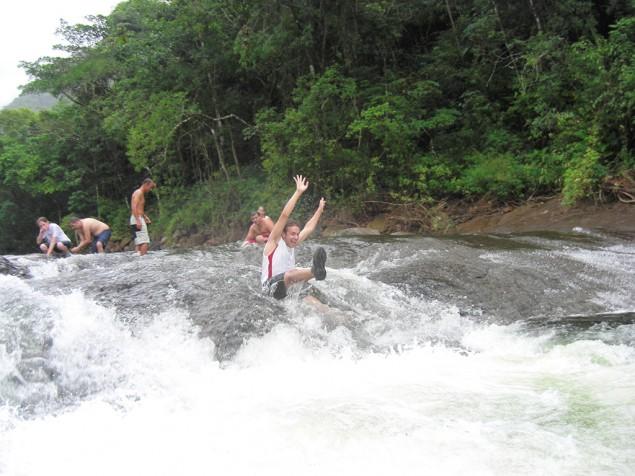 Natural water slide