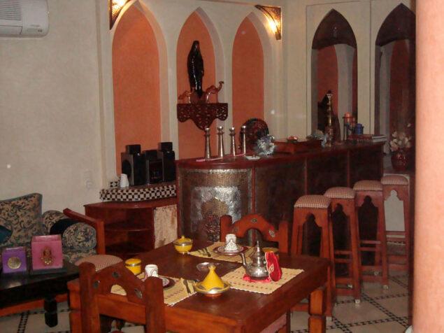 Inside the riad El Wiam