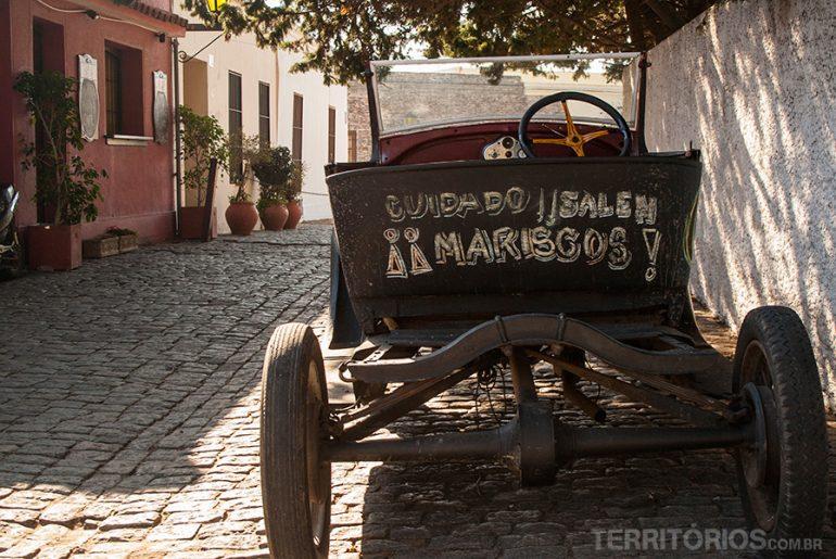 Restaurant's advertise at Colônia de Sacramento - Uruguay