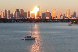 Sunset at Belle Island, Flórida