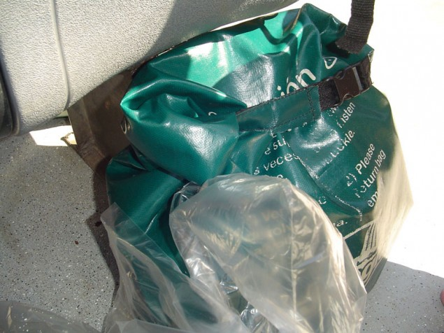 The bag protects what cannot get wet