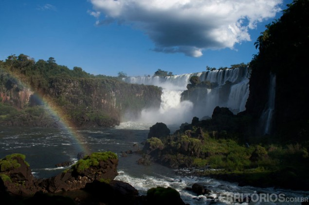 We also bathed in this mist in the middle of the pic, at Salto San Martin