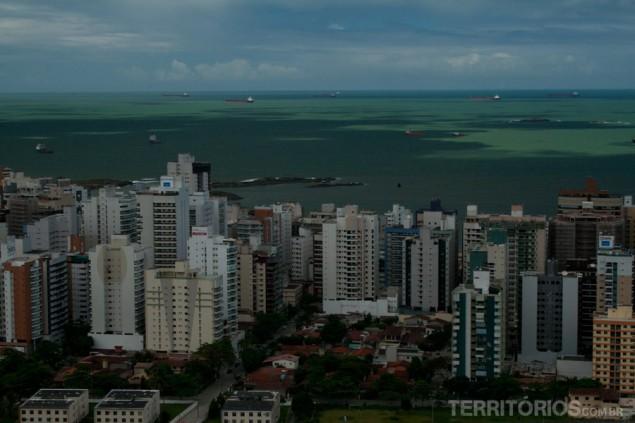 View to the beaches of Vila Velha