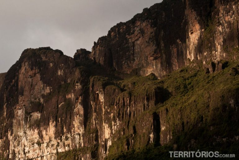 Facing the slope of Mount Roraima