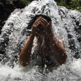 Roberta Martins in the waterfal